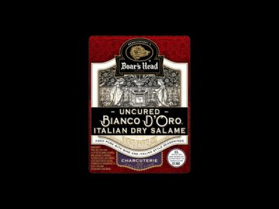 Uncured Bianco D'Oro® Italian Dry Salame Product Label